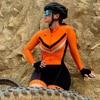Ciclismo skinsuit xama das mulheres de manga longa ciclismo triathlon terno ir pro bicicleta wear roupas ciclismo sportwear macacão kit 14