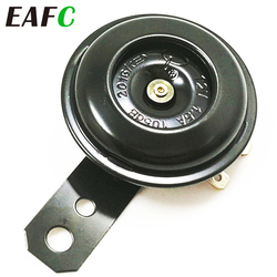 EAFC Universal Motorcycle Electric Horn kit 12V 1.5A 105db Waterproof Round Loud Horn Speakers for Scooter Moped Dirt Bike ATV