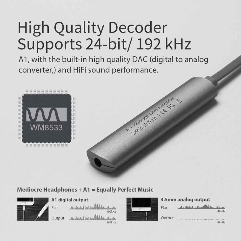 GGMM الأصلي مضخم ضوت سماعات الأذن المحمولة مكبر صوت صغير الحجم نوع C/المصغّر usb إلى 3.5 مللي متر مكبر للصوت محول DAC forHiFi ضياع DAC