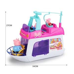 Image 5 - חדש פפה חזיר שיט ג ורג דגם ורוד חזיר משפחה סבא פעולה דמות מצוירת צעצוע אמבטיה סט ילדים הטוב ביותר צעצוע מתנה