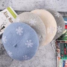 Wholesale women beret hat christmas hat wool warm painter ha