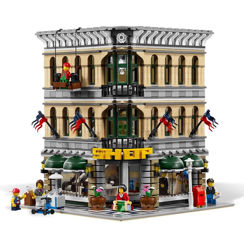 2232Pcs City Street View Grand Emporium Model Building Blocks Bricks Toys for Children Gifts Compatible  15005 10211