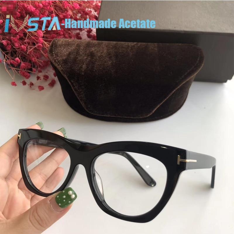IVSTA Top Quality TF5559 Optical Glasses Frame Women Handmade Acetate Luxury Brand Designer Prescription Lenses Myopia For Sigh