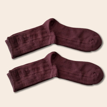 цена 1 Pair Men Socks Winter Coffee color warm Thermal socks Men Socks Casual Soft Cotton Middle Tube Solid Color Elasticity Socks