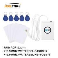 Rfid Acr122u compatible con Iso / Iec 18092, copiadora de 13,56 mhz, tarjeta de Chip inteligente Nfc, lector de tarjetas de acceso para escritor de grietas