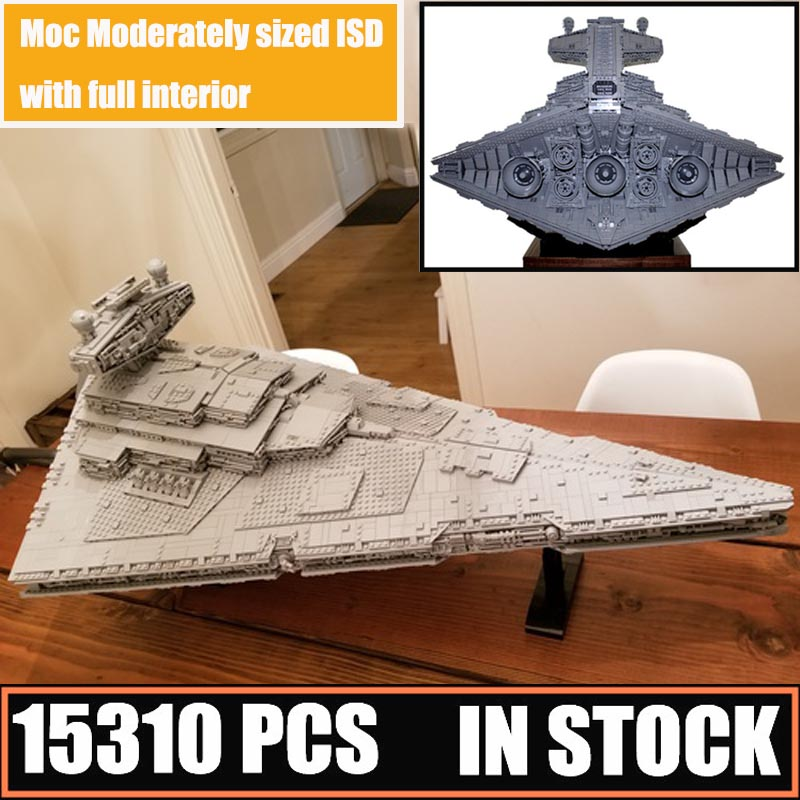 New MOC-23556 And MOC-9018 Imperial Star Destroyer Moderately Sized ISD Full Interior FitLegoings Star Wars Building Block Brick