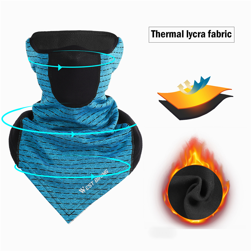 Ha91e94933af5412d964100e1bbb83dc6b WEST BIKING Winter Cycling Mask Fleece Thermal Outdoor Sports Facemask Bandana Headband Anti-UV Running Training Ski Face Mask