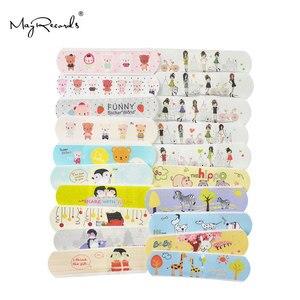 Image 2 - 100 قطعة ضمادات لاصقة مضادة للماء تسمح بالتهوية على شكل فرقة كارتونية لطيفة للأطفال