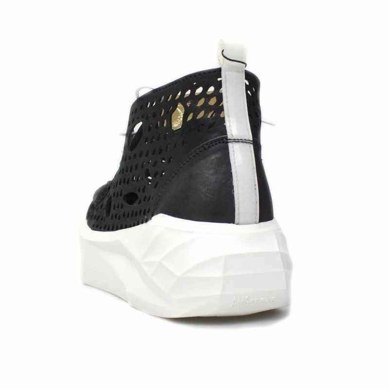 Yaz spor rahat özlü hakiki deri erkek platform ayakkabılar sokak dantel Up oymak nefes erkek kalın alt sandalet