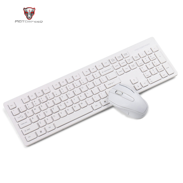 Motospeed G4000 2.4G Wireless Keyboard and Mouse Combo Ergonomics USB 2.0 1000DPI Mouse 104 Keys Board