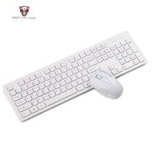 Teclado y ratón inalámbrico Motospeed G4000 2,4G Combo ergonómico USB 2,0 1000DPI ratón 104 teclas