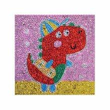 15X15CM Dinosaur Pattern DIY Diamond Painting Charming Cross Stitch Diamond Embroidery Mosaic Needlework Painting стоимость