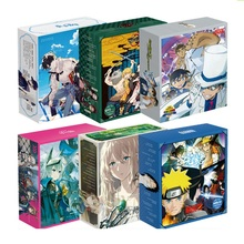 Nowe japońskie Anime Naruto jednoczęściowy komiks zestaw filiżanka wody pocztówka plakat naklejka prezent luksusowe pudełko upominkowe Anime wokół