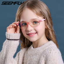 Vintage Glasses Clear-Lens Computer Optical-Spectacle Anti-Blue-Light Kids Boy Seemfly