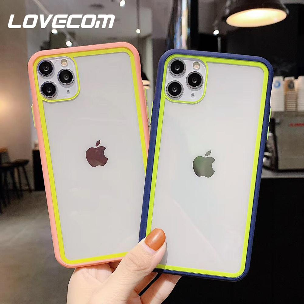 LOVECOM Cute Candy Color Phone Case For iPhone 11 Pro Max XR XS Max 7 8 Plus X Soft Acrylic Back Cover For iPhone 11 Coque Gift|Fitted Cases| |  - title=