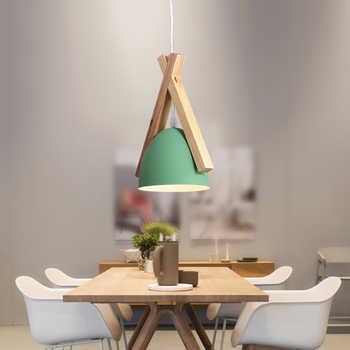 Modern Black Green Gary Pendant Light Nordic Lights Iron Lampshade Loft Edison Hanging Lamp Metal Coffee Dining Room Countryside