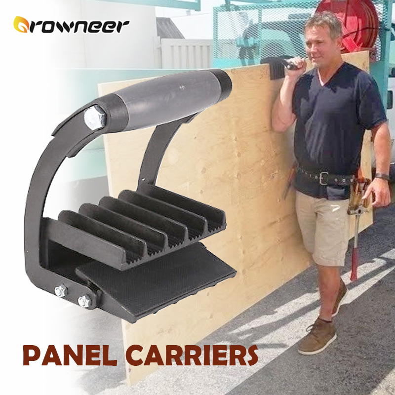 Handy Panel Carrier Board Lifter Handle Gripper General Purpose Transportation Equipment Black Soft Cushion With Rubber Pads