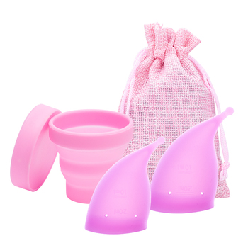 Juego de copas menstruales, Copa de silicona de grado médico, Copa Menstrual...