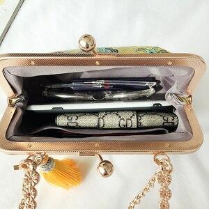Image 5 - ヴィンテージキスロックシェルバッグバッグフリンジトートバッグ女性のハンドバッグ財布チェーンの女性のショルダークロスボディバッグバッグ送料無料