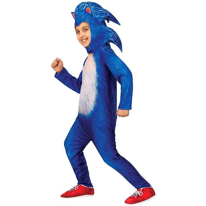 Flambant neuf inventaire Sonic le hérisson Costume enfants jeu personnage Cosplay Halloween Costume jouets pour cadeaux pour enfants