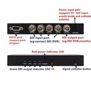 Image 4 - SDI מתג 3G/HD/SDI 4x1 Switcher עם BNC נקבה תמיכה 1080P הפצה Extender עבור מקרן צג מצלמה משלוח חינם