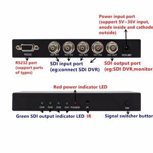 Image 4 - SDI Switch 3G/HD/SDI 4x1 Switcher with BNC Female Support 1080P Distribution Extender for Projector Monitor Camera Free Shipping