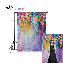 Beebuzz photo backdrop painted petal graffiti background all kinds of colorful petals art style  photophone