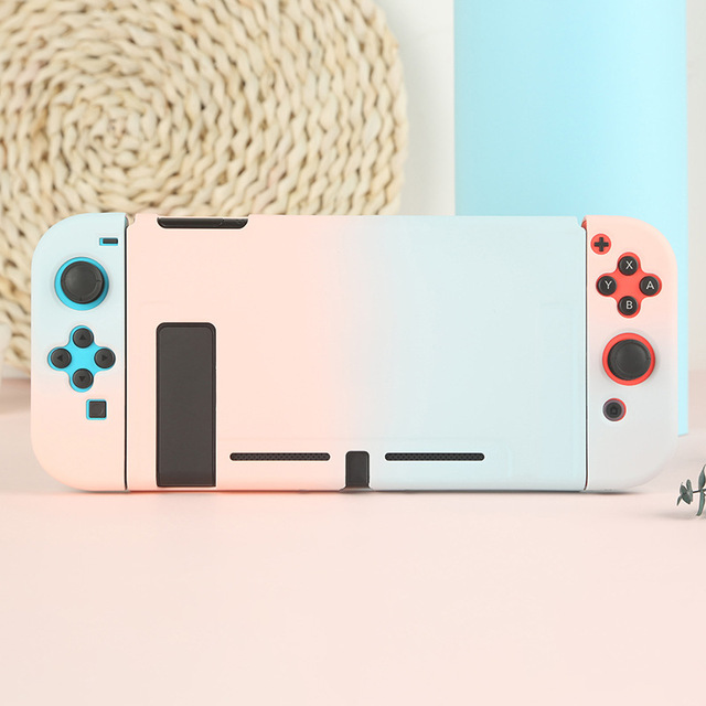 PC Pure Color Case For Nintendo Switch NS Joy Con Cover Cute Protective For Switch Console Accessories
