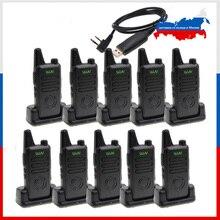 10 шт., портативная мини рация WLN KD C1 Plus, UHF, с скремблером, FM приемопередатчиком, двухсторонняя рация, Любительский коммуникатор