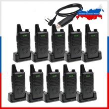 10pcs WLN KD C1 Plus UHF MINI Handheld Walkie Talkie With Scrambler FM transceiver KD C1 plus Two Way Radio Ham communicator