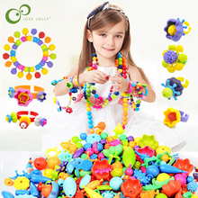 100Pcs Pop Beads Snap Bead Colourful DIY Fashion Jewelry Kit Educational girl gift toys Making Necklace Bracelet Ring GYH