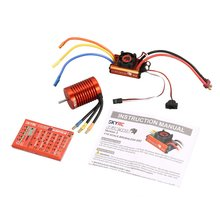 SKYRC SK-300042-02 9T 4370KV Brushless Motor 60A Brushless ESC Programming Card Combo Set for 1/10 RC Car Truck Model Parts Toy skyrc bma 01 brushless motor analyzer tester rpm kv voltage timing noise amp hall checker motolyzer for rc car part with lcd