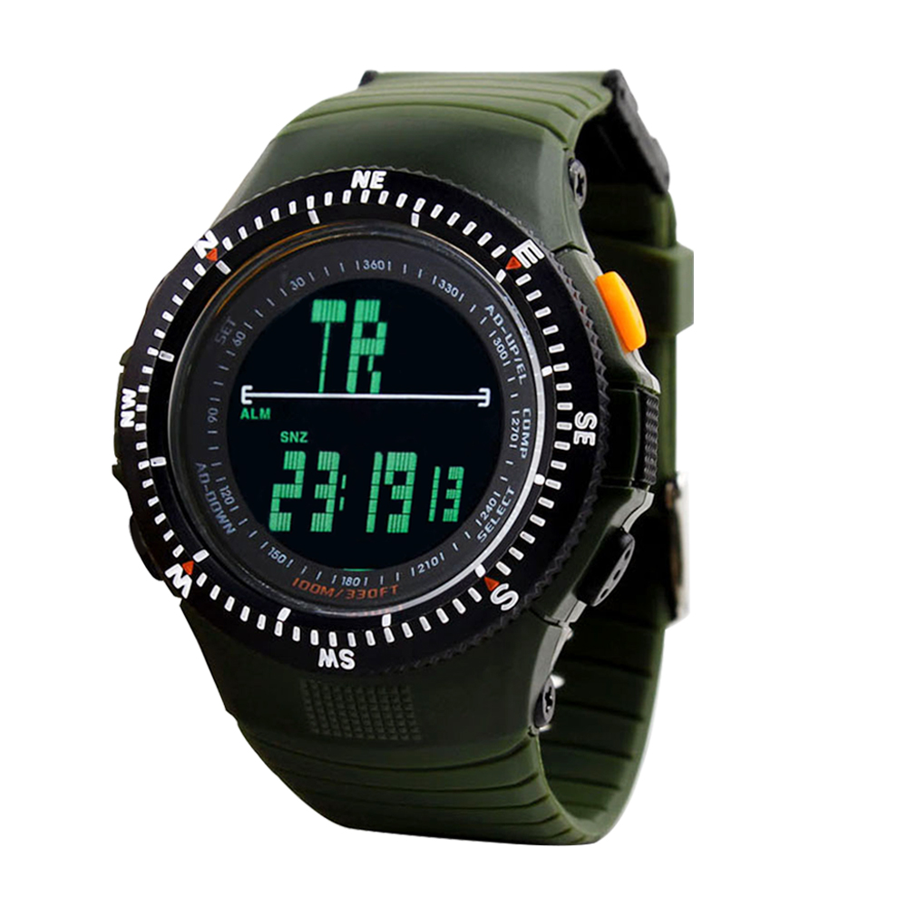 Men Sports Watches Tactical Hunting Watch Wristwatches Man Quartz Clock LED Digital Waterproof Military Travel Kits