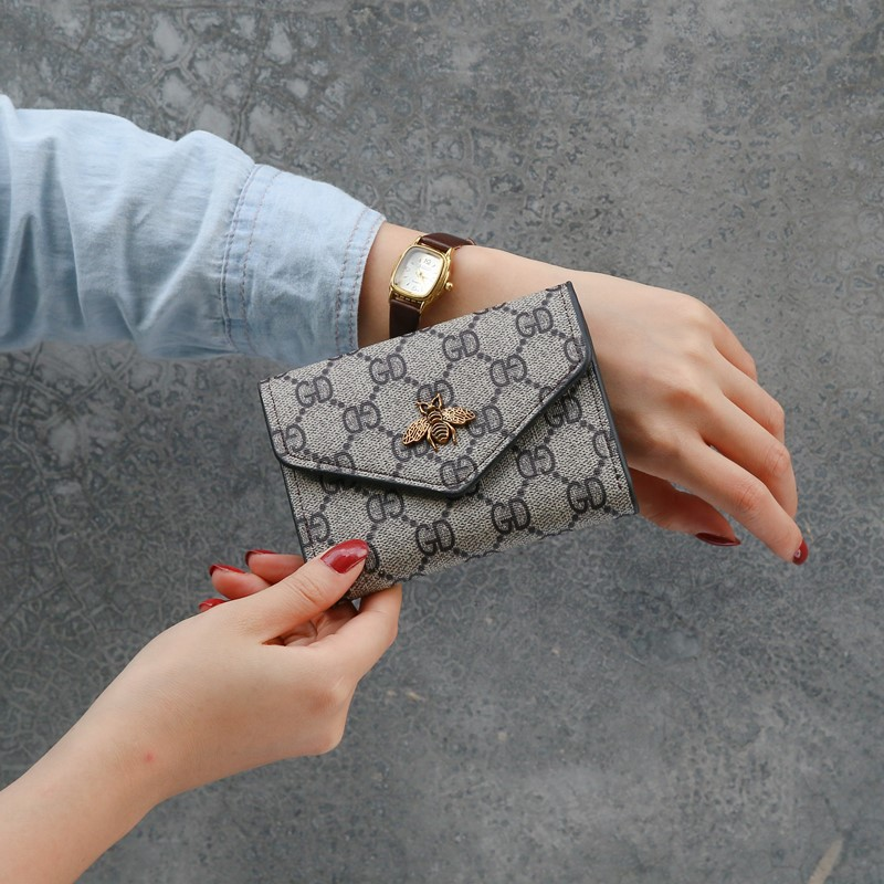 Brand Plaid Small Purse Womens Wallets Fashion Card Holder Women's Short Coin Pocket Mini Slim Fold Wallets Ladies Clutch Wallet