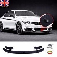 Car Front Deflector Spoiler Splitters Bumper Lip Aprons for BMW F10 F11 M Sport 2010-2016 Car Bumper Lip