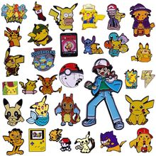 Cute Japanese Style Anime Movies Pokemon Badge Pikachu Enamel Pins Game Lapel Pin Animal Brooch Gifts for Fans Friend Wholesale