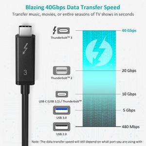 Image 4 - Choetech Thunderbolt 3 kablo 2M 6.5f 40Gbps 100W 5A/20V destek 5K UHD veya 4K 60HZ ekran USB tipi C HDMI kablosu Macbook Pro