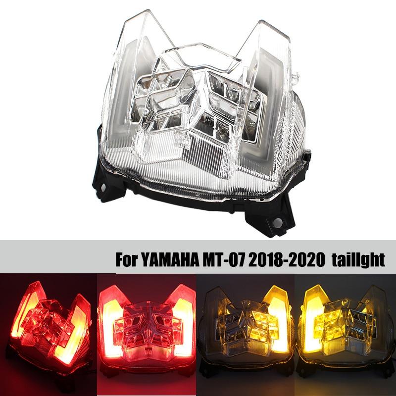 פלאזמה אופנוע LED הפנס האחורי בלם אחורי אזהרה Turn Signal מחוון מנורת זנב אור ימאהה MT09 MT09 MT 09 2017 2018 2019 (1)