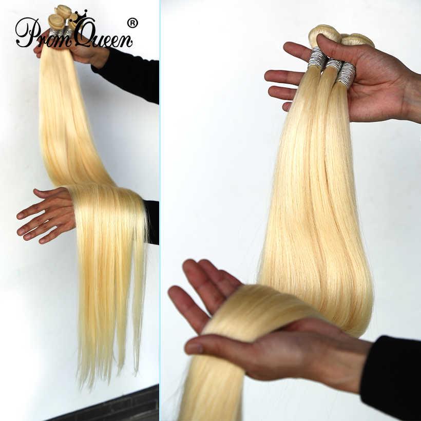 Promqueen 613 Bundel Braziliaanse Menselijk Haar Bundels Weave Remy Haar 8 - 30 32 40 Inch Lang Haar Bundels Straight blonde Bundels