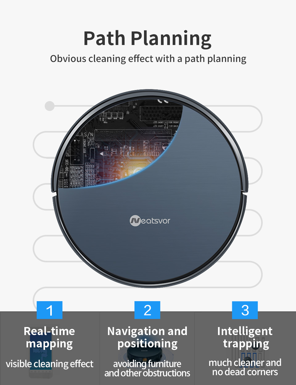 Ha9208c538af147a7885314b55844ac4cP NEATSVOR X500 Robot Vacuum Cleaner 1800PA Poweful Suction 3in1 pet hair home dry wet mopping cleaning robot Auto Charge vacuum