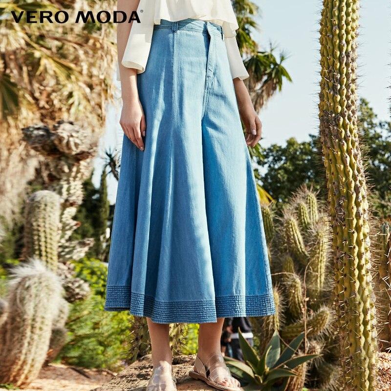 Vero Moda Women's 100% Cotton Loose Fit High-rise Capri Flared Jeans| 31926I519
