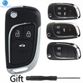 Корпус дистанционного ключа OkeyTech для Chevrolet Lova/Aveo/Cruze, кнопки 2/3/4/5 для Opel Vauxhall Insignia Astra Mokka, для Buick