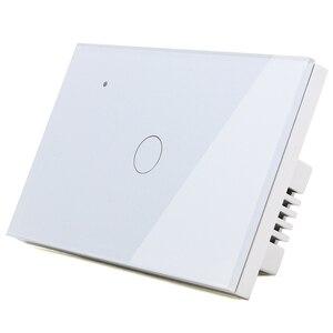 Image 2 - WIFI TOUCH Light Wall SWITCHสีขาวLEDสีฟ้า 118*72 มม.สมาร์ทโทรศัพท์ควบคุม 3 2WayรอบAlexa Google Home ALICE