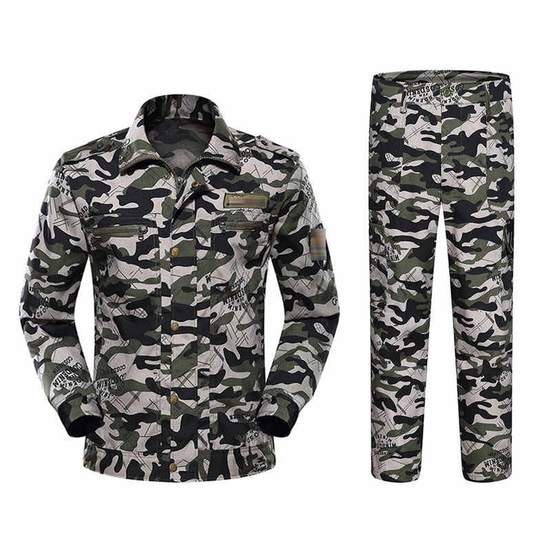 Jungle Camouflage Suits Outdoor Ontwikkeling Training Verzekering Kleding Camouflage College Militaire Training Herenkleding