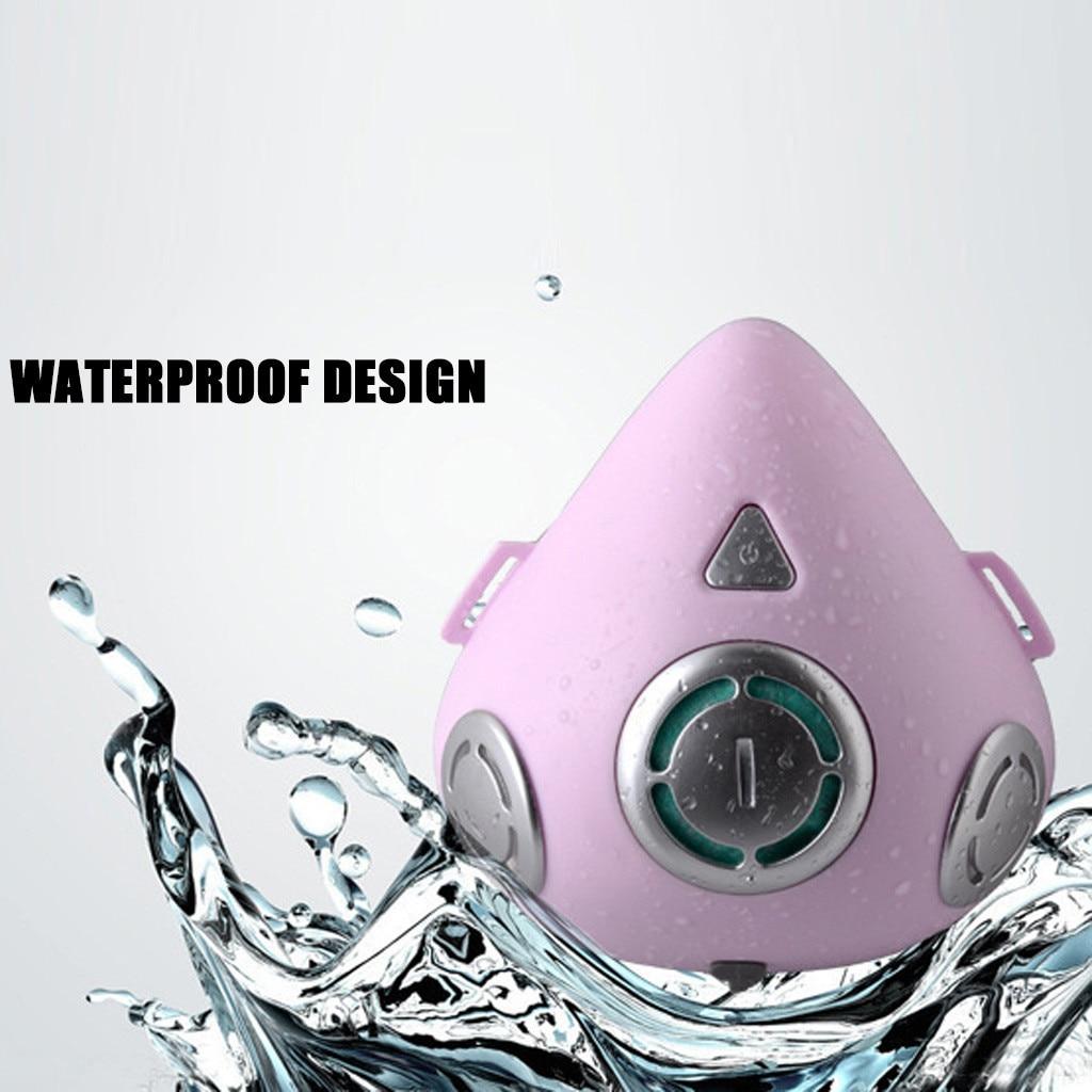 Masque facial intelligent électrique Anti-brouillard   Respirateur de Purification de l'air, masques buccaux à Air frais automatique avec 20 pièces, filtres remplaçables - 4