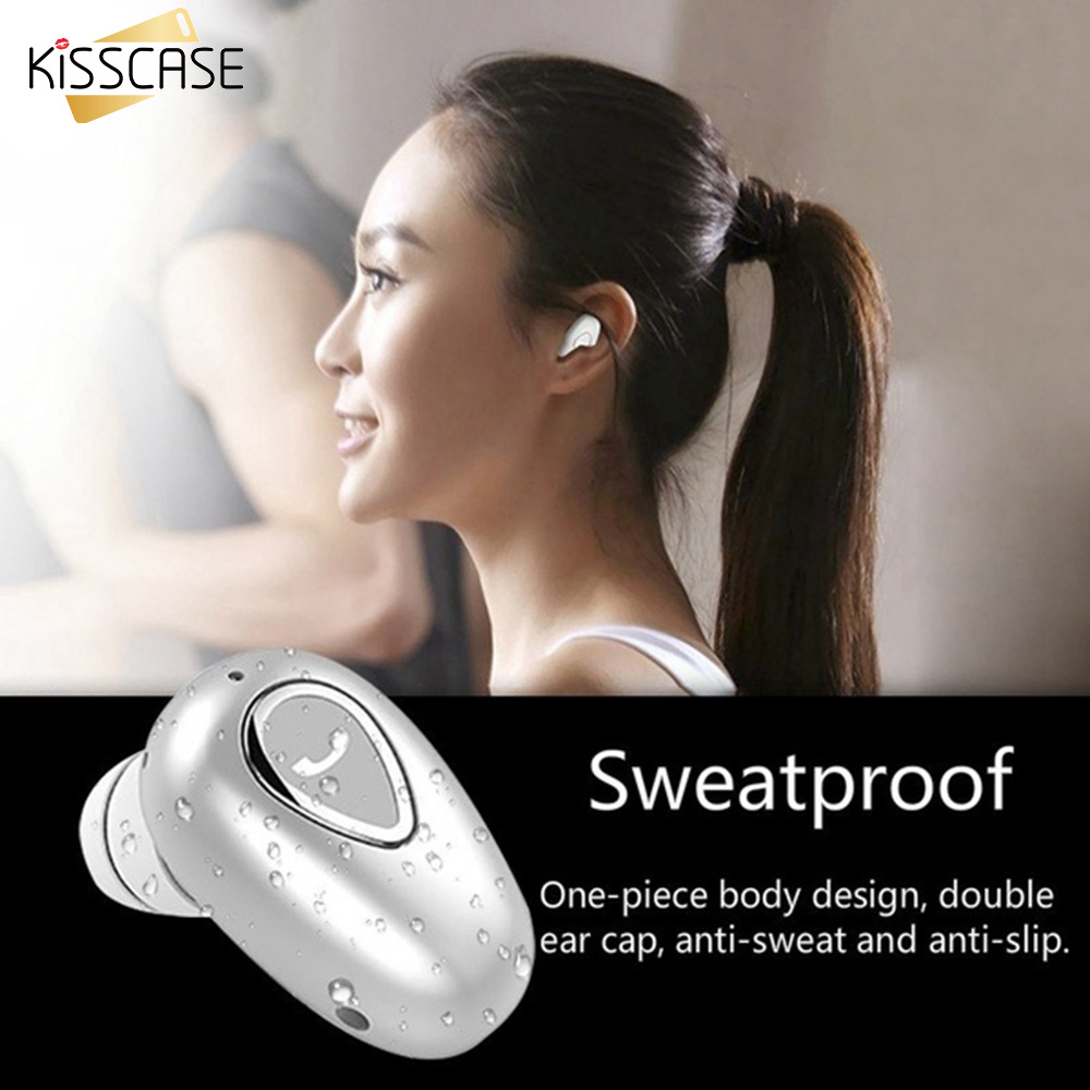 KISSCASE Bluetooth 5.0 Wireless Earphone 6D Bass Stereo In Ear Headset Handsfree Touch Control Earbuds With Microphone Earphones