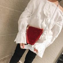 Детская модная маленькая сумка для девочек, вместительная сумка через плечо, одноцветная сумка-мессенджер, bolsa feminina