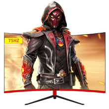 Silijun 27/24 Polegada 1920x1080p tft/lcd curvado monitor pc 75hz hd gaming display q24/q27 desktop tela vga/hdmi interface