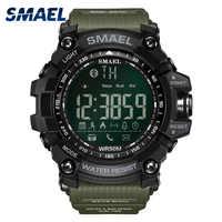 50 metros nadar vestido esporte dos homens relógios smael marca estilo verde do exército moda grande dial relógios masculino esporte digital 1617b