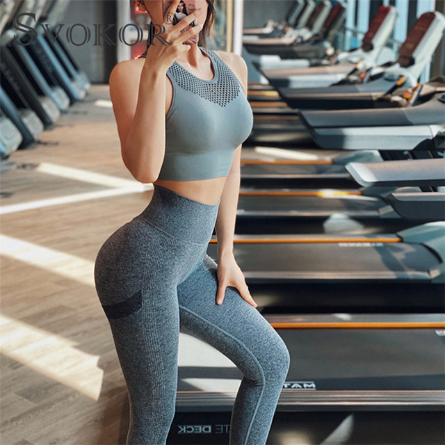 SVOKOR Spring Workout Leggings Women Seamless High Waist Fitness Leggins Female Gym Sexy Perfect Fit Legging Bubble Butt 6